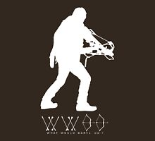 What Would Daryl Do ? white print Unisex T-Shirt