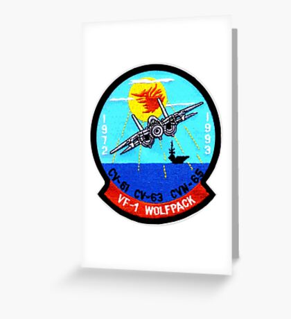 VF- 1 Wolfpack Deactivation Patch Greeting Card