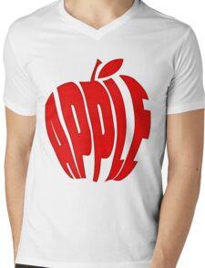 APPLE Mens V-Neck T-Shirt