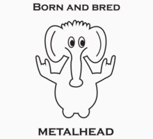 Born and Bred Metalhead logo Kids Tee