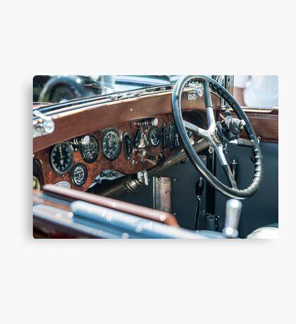 Vintage auto dash Canvas Print