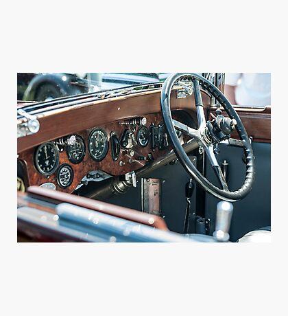 Vintage auto dash Photographic Print
