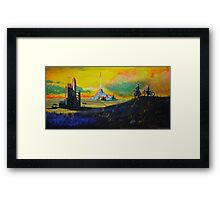 Rocket Base Framed Print