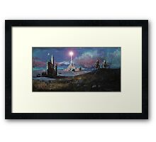 Rocket Base Night Framed Print