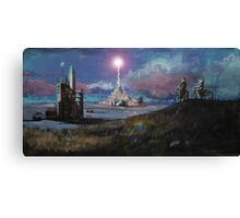 Rocket Base Night Canvas Print