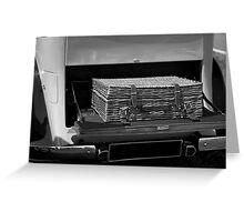 Vintage Rolls Royce picnic hamper Greeting Card