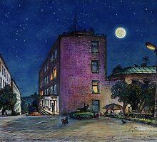 Town. Evening by Aleksandr Yankovsky