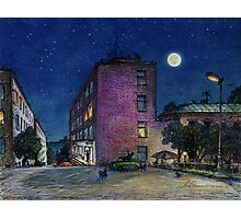 Town. Evening Photographic Print