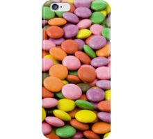 Button-Shaped Candy - Purple Pink Orange Green iPhone Case/Skin