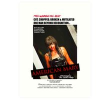 American Mary I Spit On Your Grave Style Poster Art Print