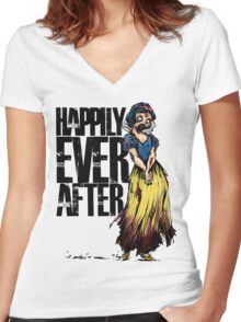 Happily Every After Women's Fitted V-Neck T-Shirt