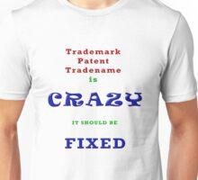 CRAZY Trademarks Designer T-Shirt and Stickers Unisex T-Shirt