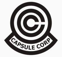 Capsule Corporation Classic Black Logo (Dragonball Z, Large) by Larsonary