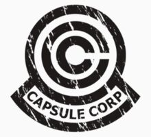 Capsule Corporation Classic Black Vintage Logo (Dragonball Z, Small) by Larsonary