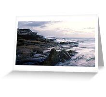 Maroubra Rock Ledges Greeting Card
