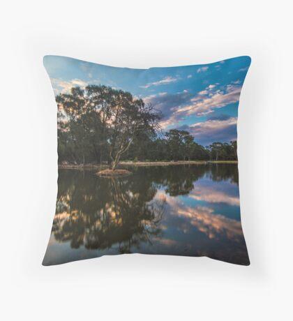 Sunset at the Lake Throw Pillow