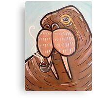 Sophisticated Walrus Metal Print