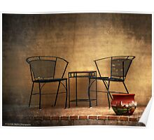 Table and Chairs in Black Poster