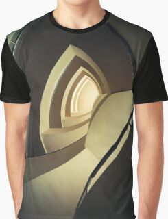 Spiral Staircase In Brown And Cream Colors Graphic T-Shirt