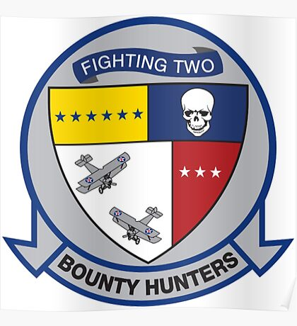 VFA-2 Bounty Hunters Patch Poster