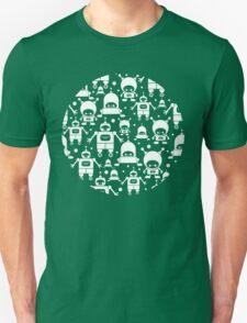 Colorful fun robots pattern Unisex T-Shirt