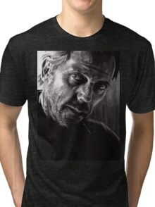 Il kill you... If you want me to - conté drawing Tri-blend T-Shirt