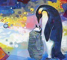 Emperor penguins by Gwenn Seemel