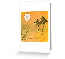 TWO PALMS FULL MOON Greeting Card