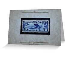 The Ten Cent LIndbergh Commemorative Air Mail Stamp of 1927 - Greeting Card