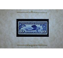 The Ten Cent LIndbergh Commemorative Air Mail Stamp of 1927 - Photographic Print