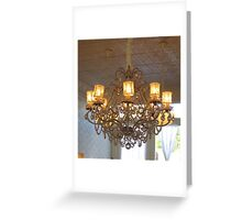 Shabby Chic Chandelier Greeting Card