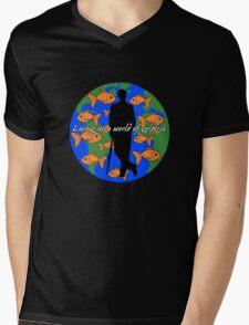 Goldfish Mens V-Neck T-Shirt