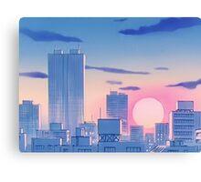 Sailor Moon Sunset Canvas Print