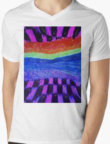 rainbow world Mens V-Neck T-Shirt