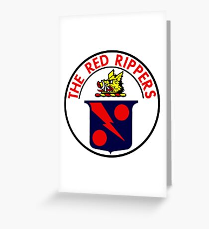VFA-11 Red Rippers Patch Greeting Card