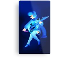 Vivi with an E-Guitar Metal Print