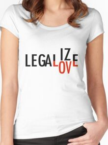 LEGALIZE LOVE black/red Women's Fitted Scoop T-Shirt