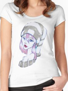 wooly hat girl Women's Fitted Scoop T-Shirt