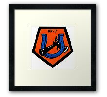 VFA-7 Horseshoes Patch Framed Print