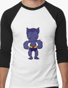 BEAST BLUE Men's Baseball ¾ T-Shirt