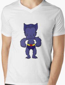 BEAST BLUE Mens V-Neck T-Shirt