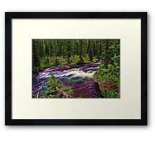 Cascade Acres - Falls River Framed Print