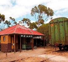 Railway Station Australian Heritage Town by jwwallace