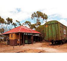 Railway Station Australian Heritage Town Photographic Print