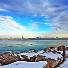 Lake Michigan In January by EBArt