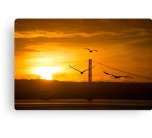 A beautiful sun set  Canvas Print