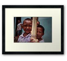 Kids. Framed Print