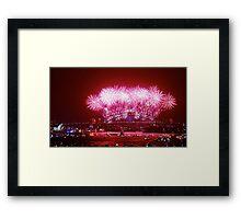 Sydney NYE Fire Works 2013/14 Framed Print