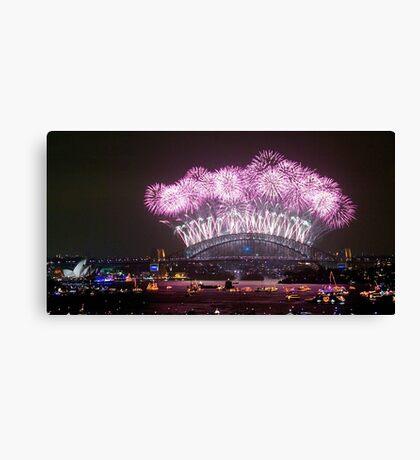 NYE FIREWORKS SYDNEY AUSTRALIA Canvas Print