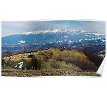Bucegi mountains in Romania Poster